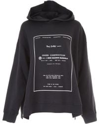 MM6 by Maison Martin Margiela - Under Construction Hoodie - Lyst