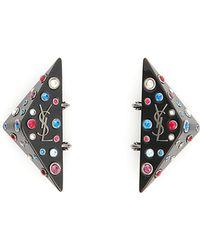 Saint Laurent - Eighties Triangle Earrings - Lyst