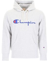 Champion - Script Logo Hoody - Lyst