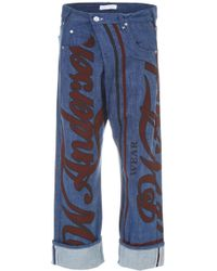 JW Anderson - Printed Jeans - Lyst