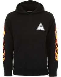 Palm Angels - Hoodie With Flames - Lyst