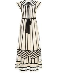 RED Valentino - Dress With Point D'esprit Tulle - Lyst