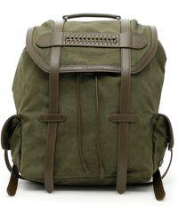 Stella McCartney - Exo Waxed Fabric Falabella Backpack - Lyst