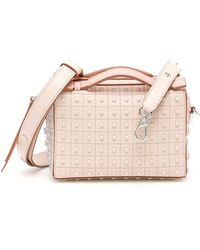3f5f4d151851 Lyst - Tod S Gommino Mini Studded Leather Satchel in Pink