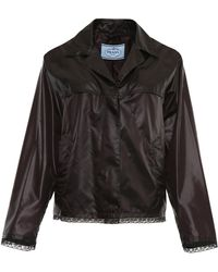 Prada - Nylon And Lace Jacket - Lyst