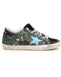 Golden Goose Deluxe Brand Glitter Superstar Sneakers