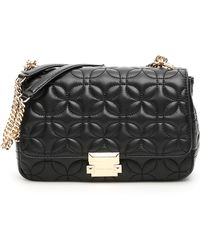 bc68ea676b113 Lyst - Michael Michael Kors Quilted Leather Sloan Bag in Black