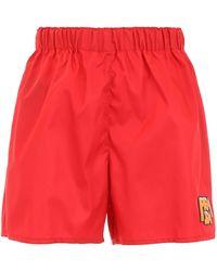 Prada - Logo Nylon Shorts - Lyst