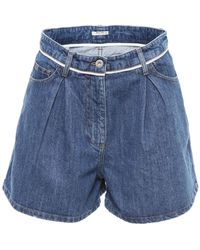 Miu Miu - Denim Shorts - Lyst