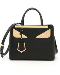 Fendi - Black Petite 2jours Bag Bugs Tote - Lyst
