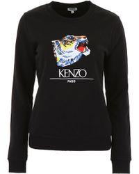 6f04a6a5c KENZO Eiffel Tower Sweatshirt in Black - Lyst