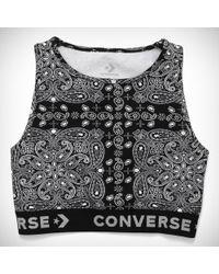 Converse - X Miley Cyrus Bandana Bra Top - Lyst