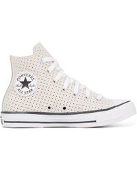 8912085d65af Converse Chuck Taylor All Star 70s Hi Suede Trainers in White - Lyst