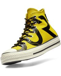 Converse - Yellow Leather Chuck 70 High Trainers - Lyst