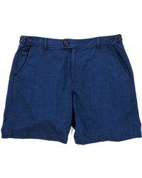 Corridor NYC - Indigo Cotton Shorts - Lyst
