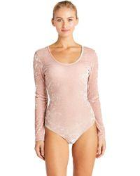 Cosabella - Bisou Texture Velvet Bodysuit - Lyst