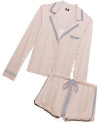 Cosabella - Bella Long Sleeve Top & Boxer Pajama Set - Lyst