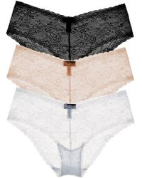 Cosabella - Trentatm Lowrider Lace Hotpant Basic Pack - Lyst