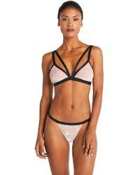 Cosabella - Bisou Texture Velvet Bralette - Lyst