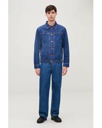 COS - Denim Jacket With Pleats - Lyst