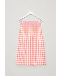 COS - Printed Pleated Skirt - Lyst