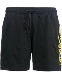 Barbour - Large Logo Mens Swim Shorts - Lyst