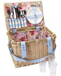 Joules Wicker Picnic Basket Fabric Lining S/s - White
