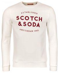 Scotch & Soda - Mens Classic Sweatshirt With Logo - Lyst