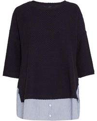 French Connection - Dixie Texture 3/4 Sleeve Womens Round Neck Top - Lyst