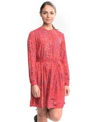 French Connection - Frances Drape L/s Tie Womens Waste Dress - Lyst