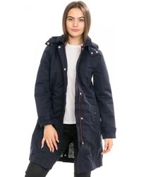 Joules Headland Womens A-line Raincoat With Removable Hood A/w - Blue
