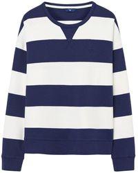 GANT - Barstripe Crew Neck Womens Sweater - Lyst