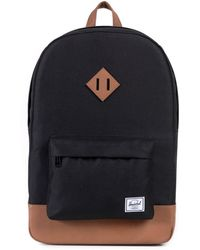 Herschel Supply Co. - Black/tan Heritage Backpack - Lyst