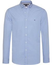 Tommy Hilfiger Classic Stripe Mens Shirt - Blue