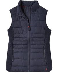 Joules - Fallow Womens Padded Gilet With Funnel Neck S/s - Lyst