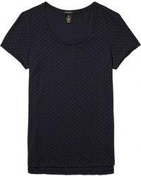 Maison Scotch - Basic Short Sleeve Polkadot Womens Tee - Lyst