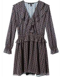 Maison Scotch - Long Sleeve Ruffle Detailed Womens Dress - Lyst