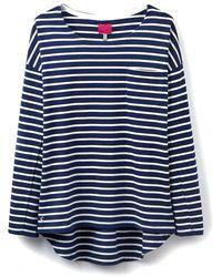 Joules | Drop Shoulder Stripe Top | Lyst