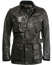 Belstaff - Trialmaster Panther Leather - Lyst