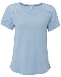 White Stuff - Celia Linen Jersey Womens Tee - Lyst