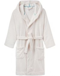 TOPSHOP Faux Fur Fluffy Dressing Gown in Natural - Lyst aeb3b5857