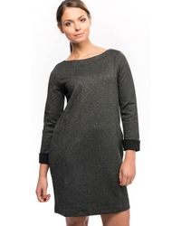 French Connection - Louna Jersey Ls Full Emb Womens Dress - Lyst
