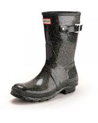 HUNTER - Original Starcloud Short Womens Wellington Boots - Lyst