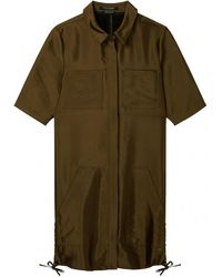 Maison Scotch - Short Sleeve Safari Lace Up Detail Womens Dress - Lyst
