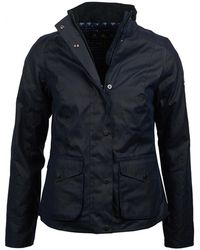 Barbour - Newquay Wax Womens Jacket - Lyst