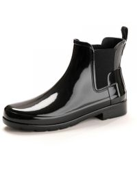 HUNTER - Original Refined Gloss Chelsea Ladies Boot - Lyst