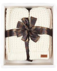 Barbour - Womens Fleece Lined Scarf & Snood Set - Lyst