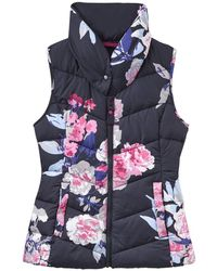 Joules - Merriton Floral Print Padded Gilet - Lyst