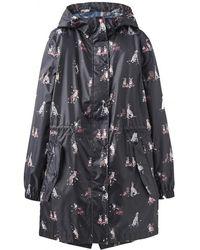 Joules - Golightly Printed Waterproof Womens Packaway Coat (z) - Lyst