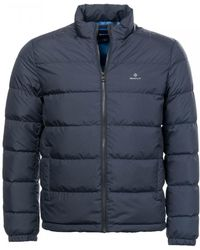 8bba50f47f GANT - O1. The Panel Down Mens Jacket - Lyst